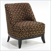 Armen Living Jester Armless Fabric Club Chair in Java Chocolate