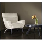 Armen Living Fabric Club Chair in Light Cream