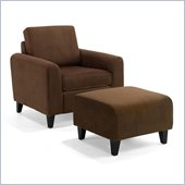 Armen Living Marietta Fabric Club Chair in Chocolate Brown