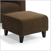 Armen Living Marietta Fabric Ottoman in Chocolate Brown