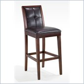 Armen Living Verona 30 Stationary Bar Stool in Brown