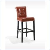 Armen Living Sangria Stationary Pub High Bar Stool in Burnt Sienna