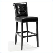 Armen Living Sangria Stationary Counter High Barstool in Black