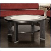 Armen Living Alta 40 Round Occasional Table in Espresso