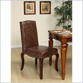 Armen Living Madeleine Vintage Chair Set in Mocha