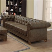 Armen Living Winston Vintage Sofa in Mocha