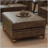 Armen Living Winston Vintage Ottoman in Mocha
