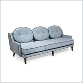 Armen Living Draper Sofa in Azure