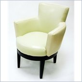 Armen Living 247 Series Swivel Club Chair in Cream
