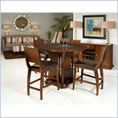 Armen Living Ashton Counter Height Table in Cherry