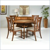 Armen Living Avalon Side Chair in Walnut