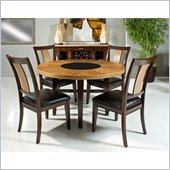 Armen Living Milano Dining Table in Zebrano