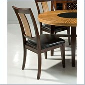 Armen Living Milano Side Chair in Zebrano