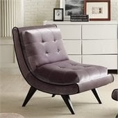 Armen Living 5Th Avenue Armless Swayback Gray Fabric Lounge Chair