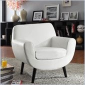 Armen Living Jetson White Vinyl Club Chair