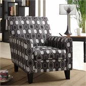 Armen Living Fiesta Gray Circles Fabric Club Chair