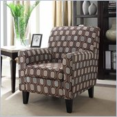 Armen Living Fiesta Cream Circles Fabric Club Chair