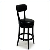 Armen Living Roxy 26 Inch Black Bicast Leather Swivel Barstool
