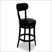 Armen Living Roxy 30 Inch Black Bicast Leather Swivel Barstool