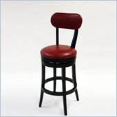 Armen Living Roxy 26 Inch Red Bicast Leather Swivel Barstool