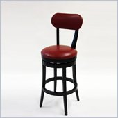 Armen Living Roxy 30 Inch Red Bicast Leather Swivel Barstool