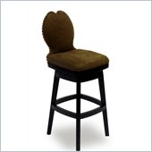 Armen Living Ava 26 Inch Brown Fabric Swivel Barstool