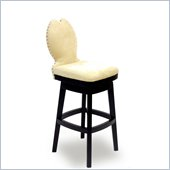 Armen Living Ava 26 Inch Cream Fabric Swivel Barstool