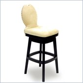 Armen Living Ava 30 Inch Cream Fabric Swivel Barstool