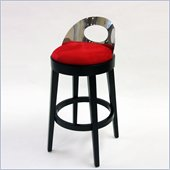 Armen Living Vista 26 Inch Red Microfiber Stationary Barstool