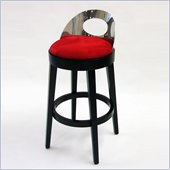 Armen Living Vista 30 Inch Red Microfiber Stationary Barstool