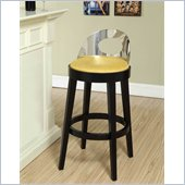 Armen Living Vista 26 Inch Yellow Microfiber Stationary Barstool
