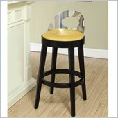 Armen Living Vista 30 Inch Yellow Microfiber Stationary Barstool