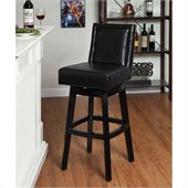 Armen Living Wayne 26 Inch Black Bicast Leather Swivel Barstool