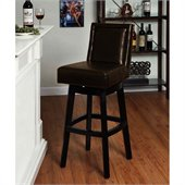 Armen Living Wayne 26 Inch Brown Bicast Leather Swivel Barstool