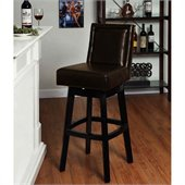 Armen Living Wayne 30 Inch Brown Bicast Leather Swivel Barstool