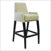 Armen Living Baldwin 30 Inch Cream Bicast Leather Stationary Barstool