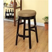 Armen Living Halo 26 Inch Brown Microfiber Swivel Barstool