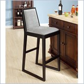 Armen Living Obliq 30 Inch Bixby Lagoon Fabric Stationary Barstool