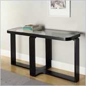 Armen Living Callum Console Table in Black