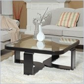 Armen Living Callum Square Coffee Table in Black