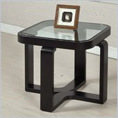 Armen Living Callum Square Lamp Table in Black