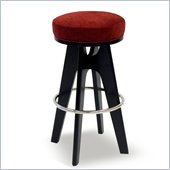 Armen Living Lexa 26 Inch Pimento Fabric Barstool
