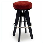 Armen Living Lexa 30 Inch Pimento Fabric Barstool