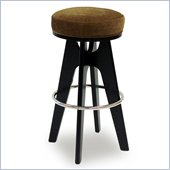 Armen Living Lexa 26 Inch Tobacco Fabric Barstool