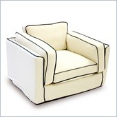 Armen Living South Beach Cream Slipcover Chair
