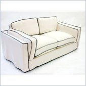 Armen Living South Beach Cream Slipcover Loveseat