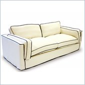 Armen Living South Beach Cream Slipcover Sofa