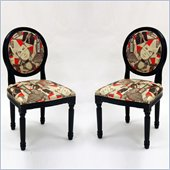 Armen Living Modern Superstar Fabric Accent Chair (Set of 2)