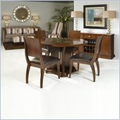 Armen Living Transitional 5 Piece Round Dining Set