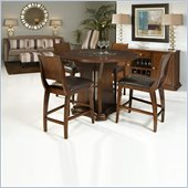 Armen Living Transitional 5 Piece Round Counter Height Dining Set